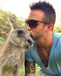 #currumbinwildlifesanctuary #goldcoast #australia #iminlove #with #the # kangaroo #animallover