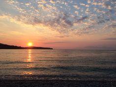 Sunset at Avlaki beach #Corfu