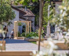 Place, Arch, Sidewalk, Outdoor Structures, Garden, Dry Garden, Earth, Longbow, Garten