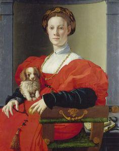 Agnolo Bronzino. Portrait de dame en rouge. 1532-1535. Huile sur bois, 89,8 x 70,5 x 2,6 cm. Francfort, Stadel Museum. © Städel Museum - U. Edelmann / Artothek.