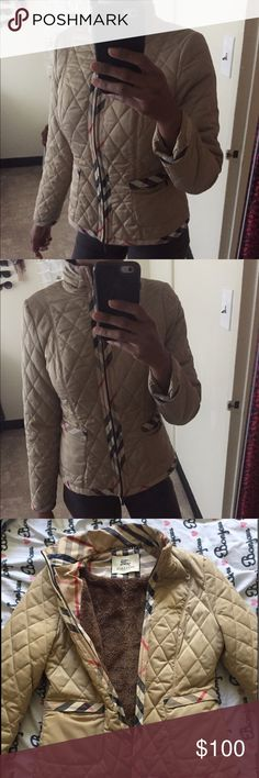 Burberry jacket Vintage Burberry jacket . Very comfy and classic . Fitted and in good condition . Authentic and runs true to the size Burberry Jackets & Coats