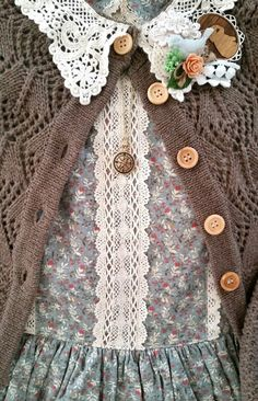 "last-cookie-in-the-jar: "" Mori/ Country Loli coord for today. I've been loving muted colors, delicate patterns, soft knits, and cotton. In the warm spring weather I want something easy and comfortable..."
