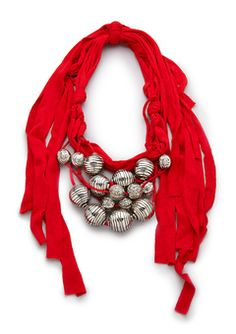 could prob. make this scarf with a t-shirt and some cool beads $26.00