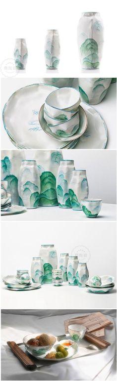 The creative ceramic utensil designed by Ruth Gurvich, an Argentine designer.