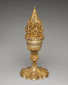 Covered chalice, made in Spain in the late 15th century (source).