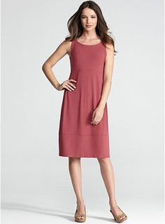 Wide Neck Oval Dress with Cutout in Viscose Jersey