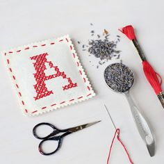 Heather Lins Home :: Letter A - Stitch Your Own Sachet Kit