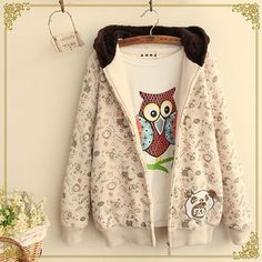 Buy Fairyland Printed Fleece-lined Coat at YesStyle.com! Quality products at remarkable prices. FREE WORLDWIDE SHIPPING on orders over US$35.