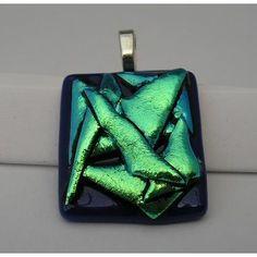 $15 Handmade Dichroic  Art Glass Freeform Pendant by WarmglassbyMarion on Handmade Australia