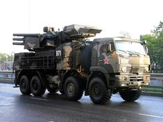 Kamaz with surface to air missile defence system