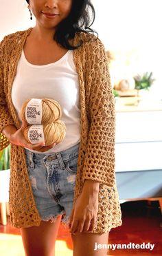 Gilet Crochet, Crochet Cardigan Pattern, Crochet Jacket, Easy Crochet Patterns, Crochet Shawl, Crochet Stitches, Free Crochet Patterns For Beginners, Gilet Kimono, Crochet Summer Tops