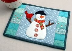 The Patchsmith: Patchsmith Christmas Mug Rugs                                                                                                                                                                                 Mais