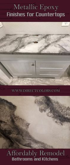 Create this stunning look on your remodeled formica or tile bathroom counters for pennies on the dollar! Find out more at DirectColors.com!