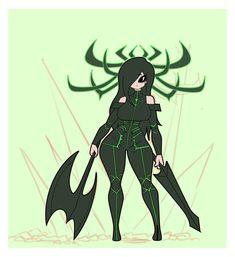 Marvel Hela, Marvel Art, Marvel Heroes, Marvel Comics, Cute Anime Character, Character Art, Character Design, Anime Demon Boy, Anime Art Girl