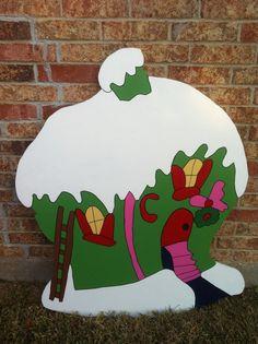 Green+Fun+house+by+HolidayYardArt+on+Etsy,+$85.00