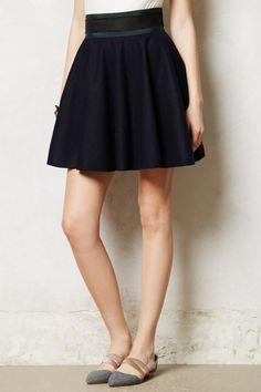 Primary Swing Skirt Navy Blue Full Wool By Hello By Jourden Anthropologie, Sz 6 #Anthropologie #FullSkirt