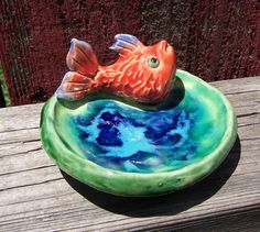 Fish Soap dish by Dragonware on Etsy, $15.00