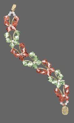 Jewelry Design - Double-Strand Bracelet with Swarovski Crystal - Fire Mountain Gems and Beads Wire Jewelry, Jewelry Crafts, Beaded Jewelry, Jewelery, Jewelry Bracelets, Handmade Jewelry, Jewelry Ideas, Jewelry Accessories, Swarovski Jewelry