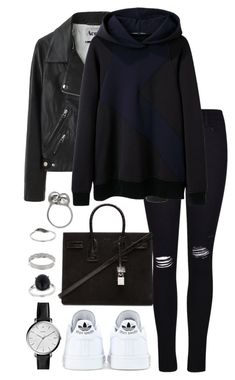 """Untitled #2337"" by elenaday ❤ liked on Polyvore featuring Frame Denim, Acne Studios, Proenza Schouler, Yves Saint Laurent, adidas, FOSSIL, Miss Selfridge and Alexander McQueen"