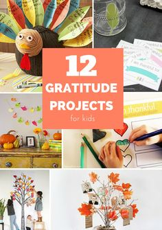 12 Creative Gratitude Projects for Kids. These are lovely Thanksgiving activities for kids. Thanksgiving Art Projects, Thanksgiving Books, Thanksgiving Activities For Kids, Craft Activities For Kids, Projects For Kids, School Projects, Kids Crafts, Fall Crafts, Holiday Crafts