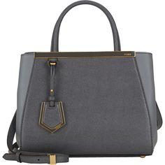 Fendi Mini 2Jours Tote ($1,900) ❤ liked on Polyvore featuring bags, handbags, tote bags, grey, gray purse, mini tote, fendi tote bag, jacquard handbags i mini tote bag