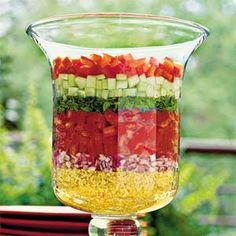 Layered Lebanese Salad