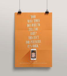 Thanks Pornhub // Posters by dimitra karagianni, via Behance