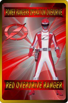 Red Overdrive Ranger by rangeranime on @DeviantArt