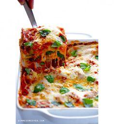 Des lasagnes aux épinards