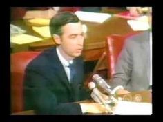 Love this - Mr. Rogers went to the US senate subcommittee on communications in 1969 and got 20 million to support funding for PBS.