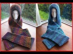Chunky Ribbed Scoodie häkeln - My Crochet Crochet Hooded Scarf, Crochet Scarves, Crochet Shawl, Knit Crochet, Hooded Cowl, Chunky Crochet, Crochet Baby, Free Crochet, Single Crochet