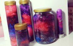 Recrea sus hermosos colores y texturas dentro de una botella.