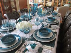 Absolutely beautiful!  All teal blue and white!