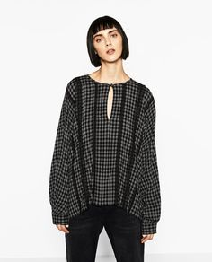 Image 2 of CHECKED BLOUSE from Zara