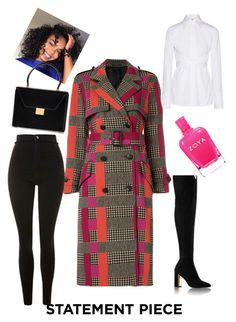 """Colorful coats"" by eva-jones-i ❤ liked on Polyvore featuring Helmut Lang, Paul Smith, Topshop, Victoria Beckham and statementcoats"