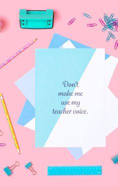 Lehrerposter
