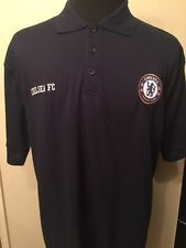 Chelsea FC Football Club Men's Polo Shirt Size XXL Navy Blue Soccer Jersey  ...