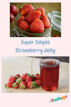 This super simple strawberry jelly is totally yummy. Take a look at our video to learn how to make the jelly and the vanilla biscuits to compliment it! Vanilla Biscuits, Strawberry Jelly, Super Simple, Compliments, Sweet Treats, Tasty, Fruit, How To Make, Food