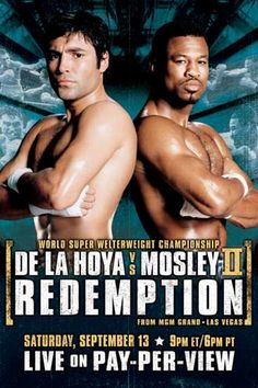 De La Hoya vs Mosley Sugar Shane Mosley, Mexican Boxers, Mgm Grand Las Vegas, 1992 Olympics, Travel Boots, Boxing Posters, The Golden Boy, Sports Page, Love Box