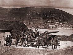 Rus ordusunun Yeşilköy'e kadar geldiği 1878'de Boğaz'da hazır bekleyen Türk askerleri...