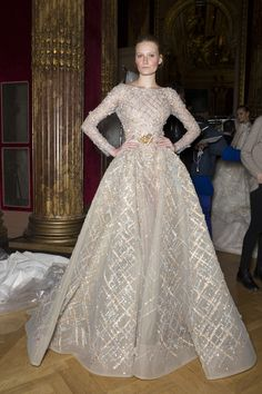 Ziad Nakad Spring 2017 Couture Fashion Show Backstage, Paris Couture Fashion Week, PFW, Runway, TheImpression.com - Fashion news, runway