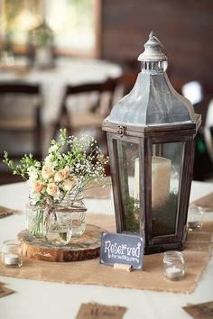 Rustic Lanterns for Wedding Centerpieces | ... + Kim - Table Centerpiece - Rustic Wedding | Jeff + Kim - Rustic
