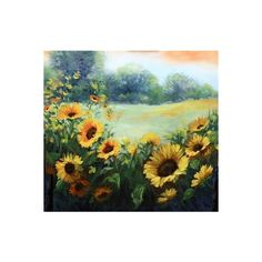 Wild Things Sunflower Fields and Dallas Arboretum Blossoms ❤ liked on Polyvore featuring home, home decor and canvas home decor