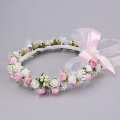 Simple Wedding Bouquets, Simple Weddings, Baby Tiara, Diy Crown, Diy Hair Accessories, Kawaii Fashion, Diy Hairstyles, Flower Crown, Fabric Flowers