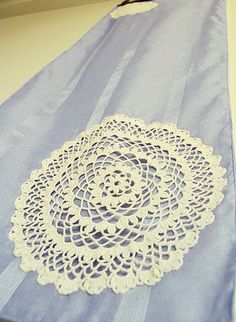 Lilac Cotton Table Runner with Lace by BizimFlowers on Etsy