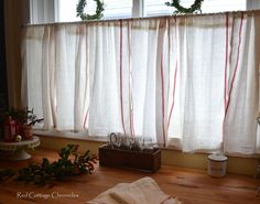 How to create cafe curtains for under 5 dollars