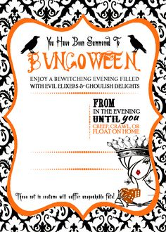 Witchs Bunco Invitation Girls Gone Bunco Pinterest Bunco