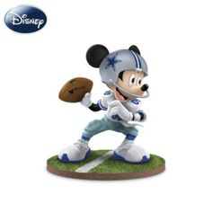 "The Dallas Cowboys ""Quarterback Hero"" Mickey Mouse Figurine - http://bradford-exchange.goshopinterest.com/collectibles/games/the-dallas-cowboys-quarterback-hero-mickey-mouse-figurine/"