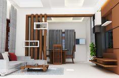 Wood Partition Living Room Partition Design, Room Partition Designs, Ceiling Design Living Room, Wooden Partition Design, Wooden Partitions, Mens Room Decor, Room Decor Bedroom, Design Bedroom, Inside Design