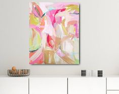 Modern Art Print , Abstract Print, 8x10 and up, pink, rose, mocha, aqua, marendevineart